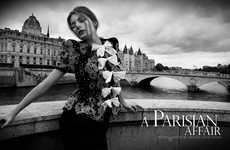 Chic French Photoshoots - A Parisian Affair by Michael David Adams Stars Model Hana