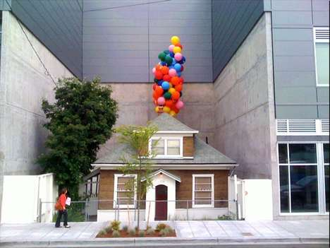 Animated Movie-inspired Homes - Edith Macefield's Actual Movie House Inspired the Film 'Up'