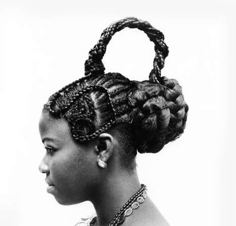 Monochrome Sculpted Hairstyle Photography