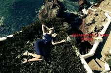 Glam Seaside Fashion Ads - The Shanghai Tang Spring 2014 Campaign Stars Bonnie Chen and Zhao Lei
