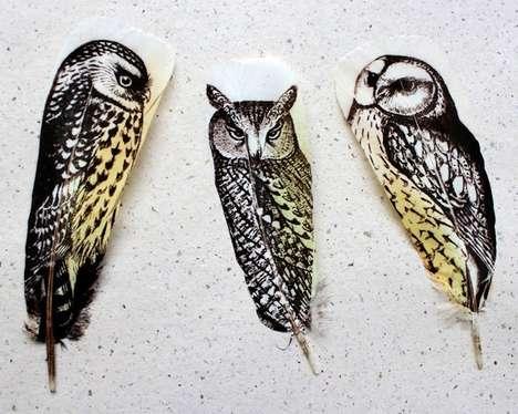 Image-Imprinted Bird Feathers
