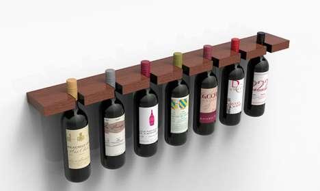 Precarious Pinching Wine Racks