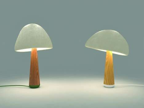 Mushroom-Grown Lighting - The Mush-Lume Table Lamp by Danielle Trofe Uses Biodegradable Materials