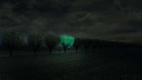 Bioluminescent Street Lights