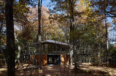 Forest-Blended Architecture - Kengo Kuma Associates Build an Elevated Abode in Japan