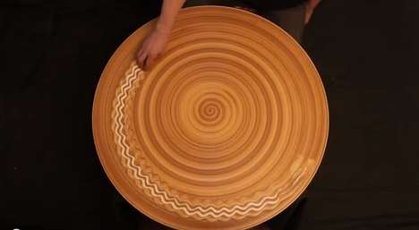 Hypnotic Spinning Sand Performances - Artist Michael Gardener Creates Mesmerizing Patterns with Hand