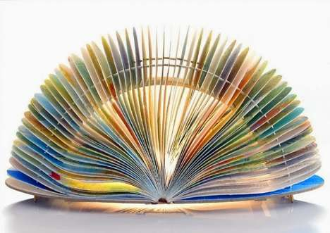 Bookish Lamp Designs - These Sculptural Book Lamps Come From Etsy  BomDesignNL