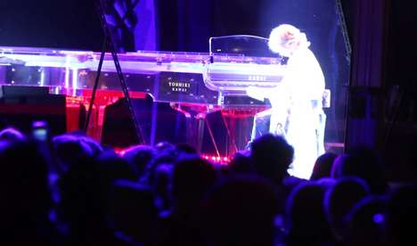 Holographic Piano Duels
