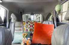 Cozily Decorated Car Interiors - The Sidecar Car Sharing Service Had Local Influencers Decorate Cars