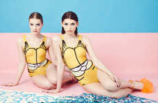 Feline Character Swimsuits