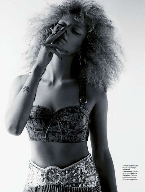 Smouldering Afro Editorials - The Sultry 'Afrodisiaque' Editorial was Created for Stylist France