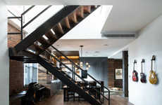 Industrial Penthouse Bachelor Pads - This Penthouse Designed by Jane Kim Creates a Rural, Urban Feel