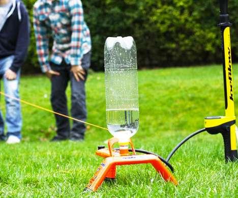 Pressurized Bottle Launchers