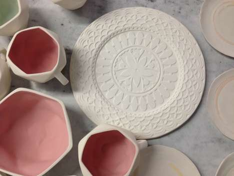 Intricately Embossed Dishware