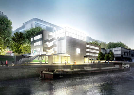 Transparent Riverside Structures