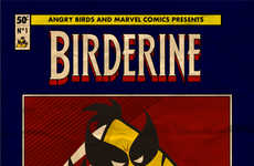 Comic Avian-Superhero Hybrids - Fabio Di Corleto Made Superheroes into Angry Bird Illustrations