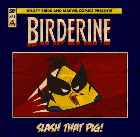 Comic Avian-Superhero Hybrids