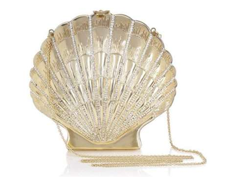 Golden Seashell Clutches - Party in Style with This Glamorous Charlotte Olympia Shell Shocked Purse