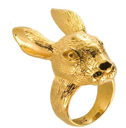 Blingy Rabbit Rings - This Bunny Ring by 21DGRS is the Perfect Easter Jewelry