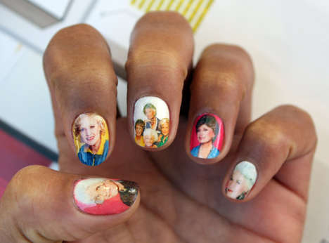 Sitcom-Inspired Nail Decals