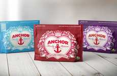 Heart-Shaped Cheese Branding - Elmwood Revamps Anchor Cheddar with a Comforting Design