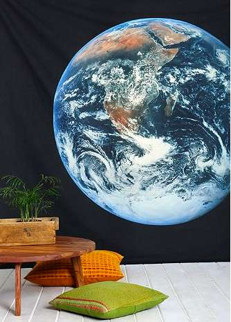 Galatic Universe Curtains - Pretend You Live in Outer Space with an Earth Tapestry