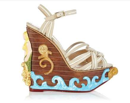 Artistic Aquatic Wedges - The Charlotte Olympia Maiden Voyage Embodies a Seaside Atmosphere
