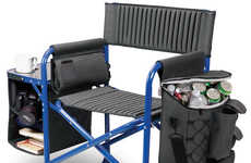 Foldable Cooler Camping Loungers