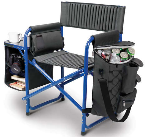 Foldable Cooler Camping Loungers - The Backpack Cooler Chair Makes Camping Trips