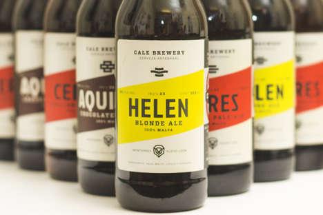 Vibrant Hipster Beer Branding