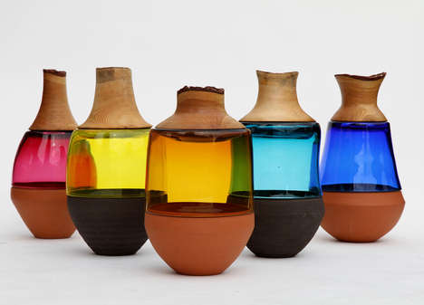 Mixed Material Vases