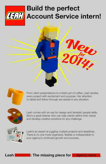 Unforgettable LEGO Resumes - Leah Bowman Created a Lego Version of Herself for Her Unique Resume
