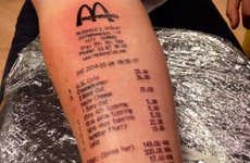Fast Food Tattoos - This Norwegian Teen Gets His McDonalds Receipt Tattooed on His Arm