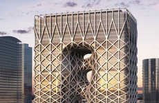 Woven Cage-Covered Hotels