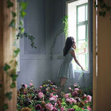 Enchantingly Surreal Photography - Photographer Lara Zankoul Turns a Room into a Secret Garden