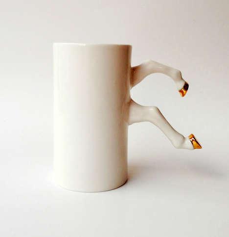 Hooved Coffee Cup Handles