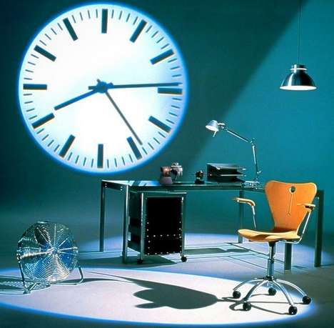 Vintage Wall-Projected Clocks