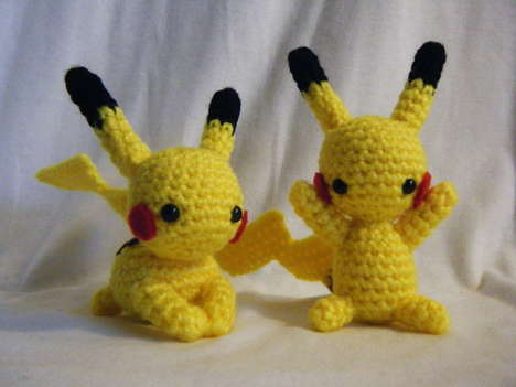 Cute Crocheted Cartoon Characters - These Adorable Crocheted Dolls Feature Your Favourite Characters