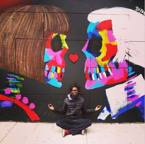 Skeleton Pop Culture Graffiti