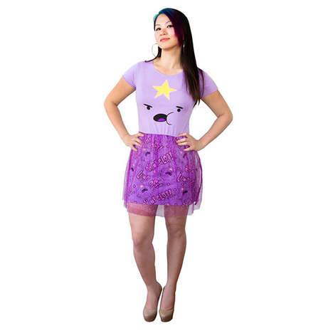 Regal Cartoon Gowns - Looking Like Lumpy Space Princess is Easy with This Dress