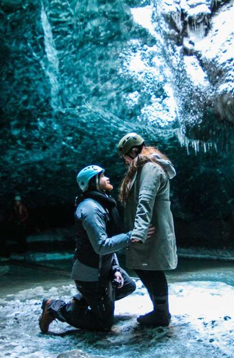 Ice Cave Marriage Proposals