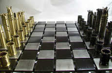 Bullet Shell Board Games - This Chess Set is Made From Real Weapons