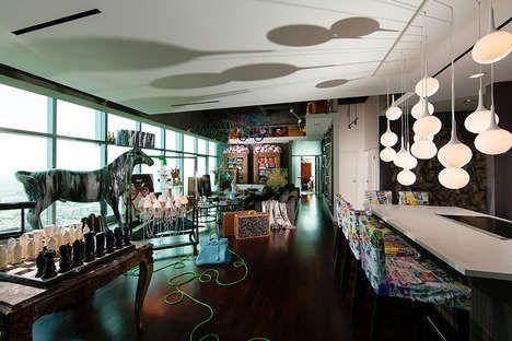 Eclectic Pop Culture Interiors