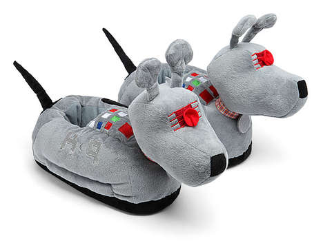 Sci-Fi Canine Footwear - These K-9 Robot Dog Slippers are Cute and Cozy
