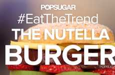 Deceptive Dessert Burgers - The Nutella Burger is a Sugary Take on a Savory Dish
