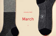 Luxury Sock Subscription Services - Pharmacie is a Monthly Subscription Service that Ships Socks