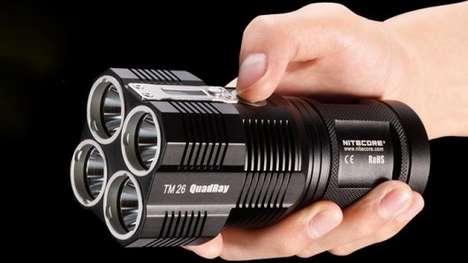 Blindingly Bright Portable Flashlights