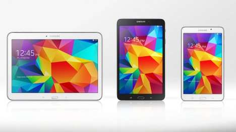 Versatile Inexpensive Tablets - The Samsung Galaxy Tab 4 Line Consists of Slim Multimedia Tablets