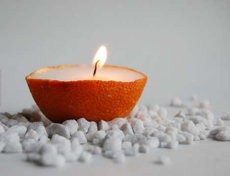 Homemade Citrus Candles - This Adorable Orange Candle Makes the Perfect Decoration