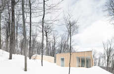 Simplistic Cedar Cabins - La SHED Architecture's Blue Hills Home is a Cozy Cabin in Quebec